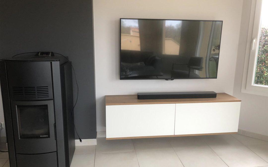 Un aménagement TV pour Karine et Christophe R
